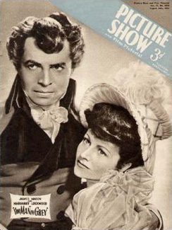 Picture Show magazine with James Mason and  Margaret Lockwood in The Man in Grey.  1943.
