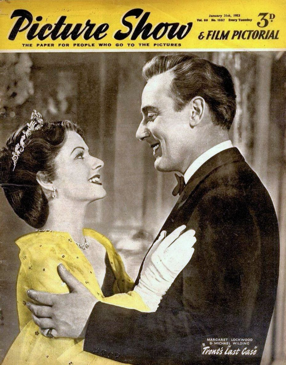 Picture Show magazine with Margaret Lockwood and  Michael Wilding in Trent's Last Case.  31st January, 1953.