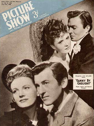 Picture Show magazine with Phyllis Calvert and  Stewart Granger in Fanny by Gaslight.  June, 1944.