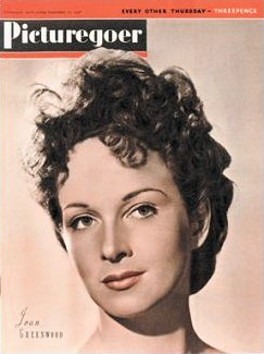 Picturegoer magazine with Joan Greenwood.  11th September, 1948.