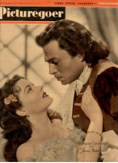 Picturegoer magazine with Margaret Lockwood and  James Mason in The Wicked Lady.  22nd December, 1945.