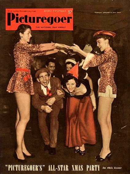 Picturegoer magazine with Norman Wisdom and Margaret Lockwood.  20th December, 1952.  'Picturegoer's' All-Star Christmas Party.