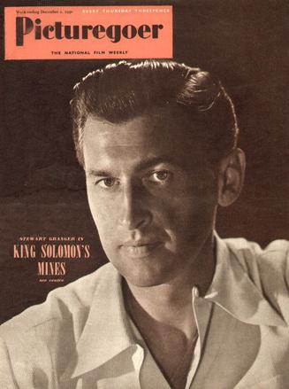 Picturegoer magazine with Stewart Granger in King Solomon's Mines.  December, 1950.