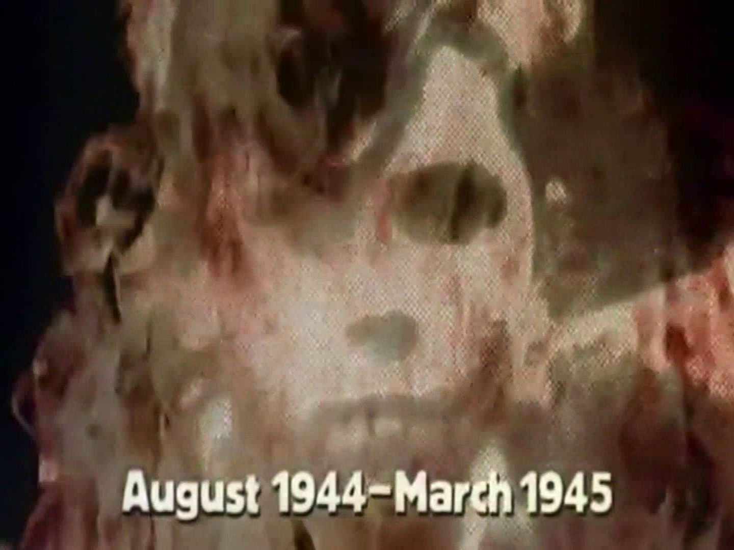 Main title from the 1974 'Pincers' episode of The World at War (1973-74) (2). August 1944 – March 1945