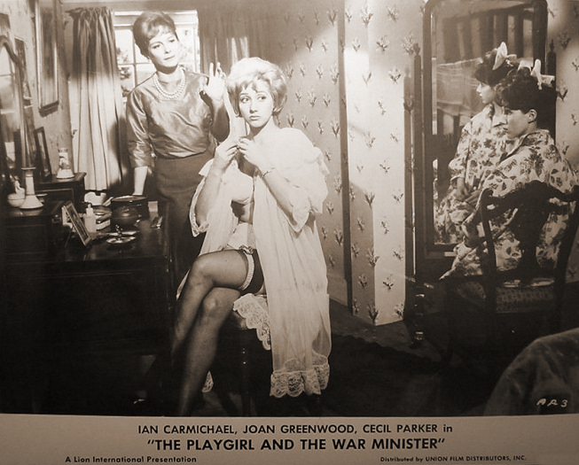 Lobby card from The Playgirl and the War Minister [The Amorous Prawn] (1962) (6)