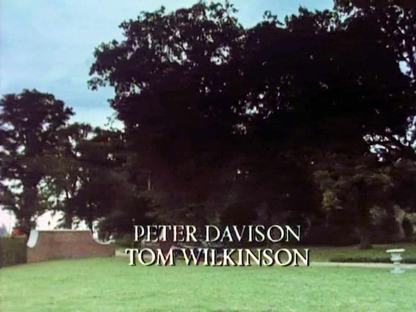 Main title from the 1987 'A Pocket Full of Rye' episode of Agatha Christie's Miss Marple (1984-1992) (6). Peter Davison, Tom Wilkinson