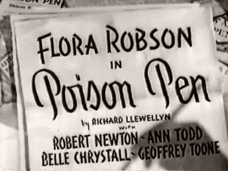 Main title from Poison Pen (1939)