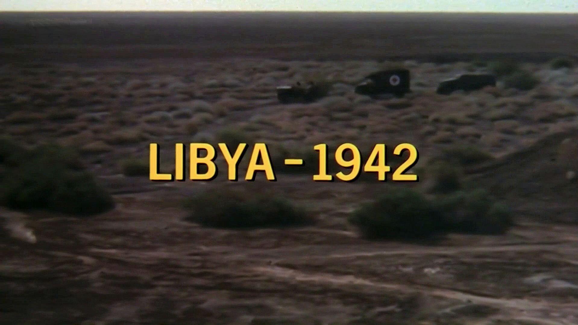 Main title from Raid on Rommel (1971) (2). Libya – 1942