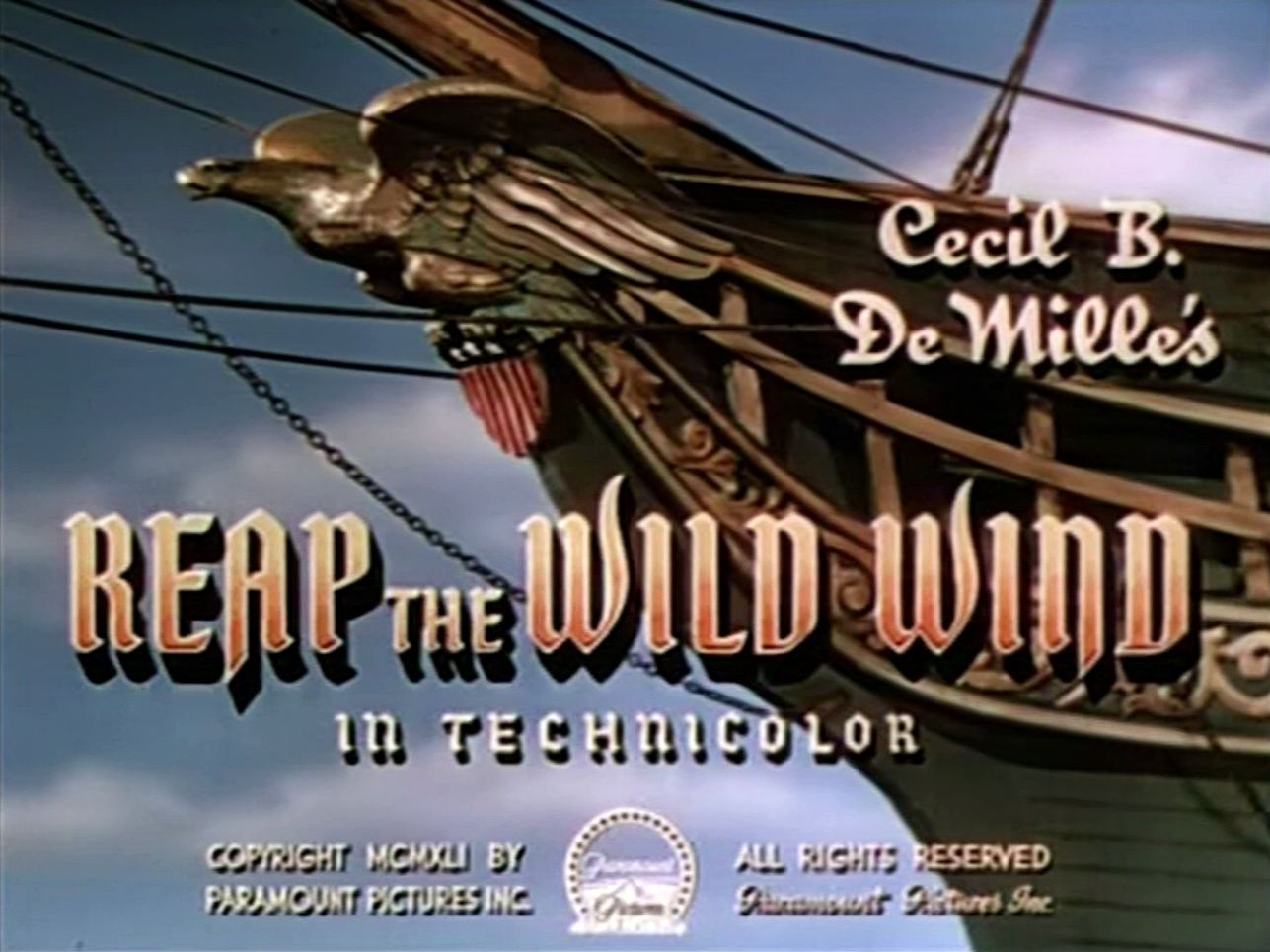 Main title from Reap the Wild Wind (1942) (3)