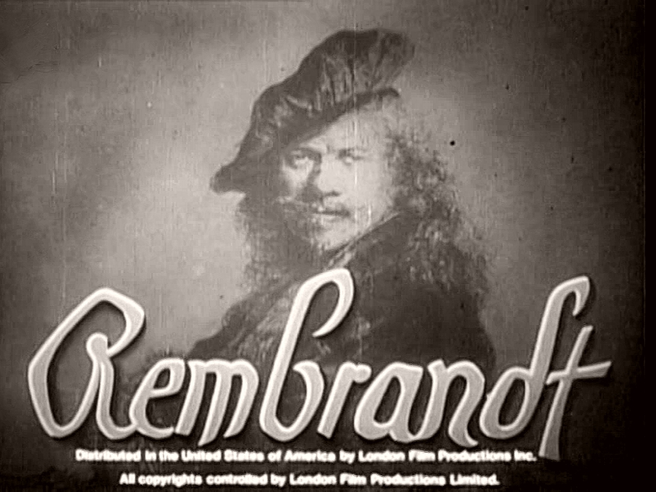Main title from Rembrandt (1936) (4).  Distributed in the United States of America by London Film Productions Inc.  All copyrights controlled by London Film Productions Limited