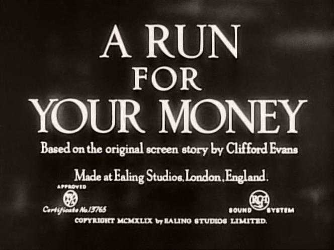 Main title from A Run for Your Money
