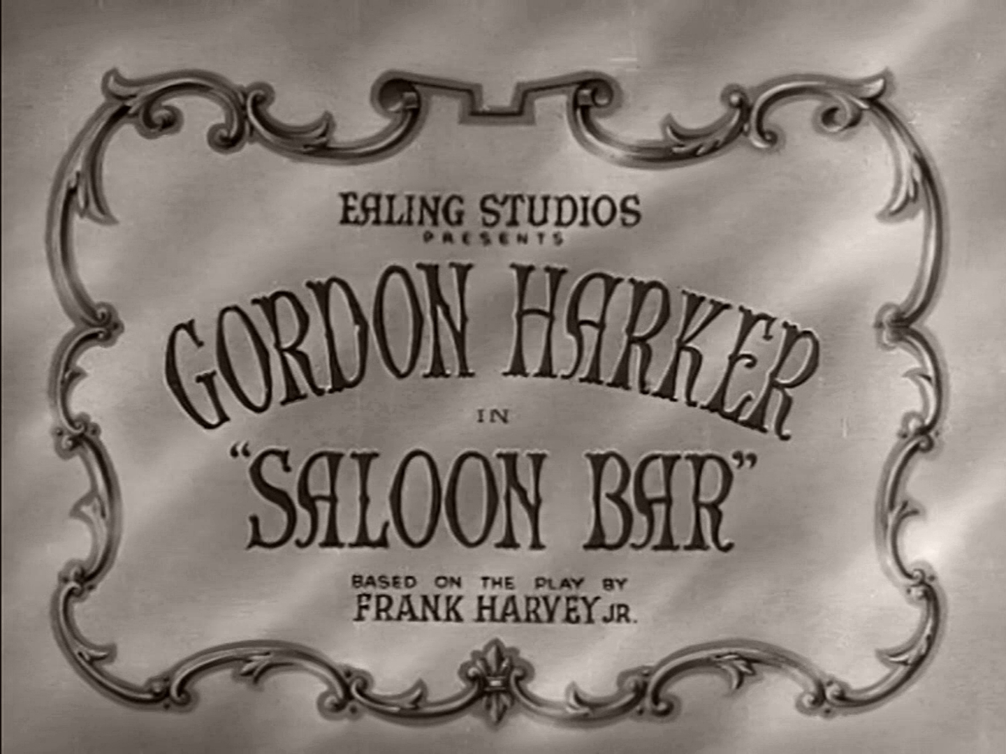 Opening credits from Saloon Bar (1940) (2). Gordon Harker