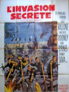French poster for The Secret Invasion (1964) (1)