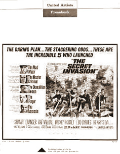 Pressbook for The Secret Invasion (1964) (1)