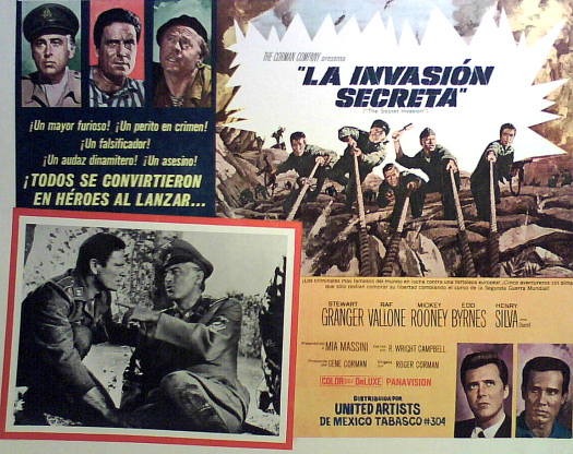 Spanish lobby card from The Secret Invasion (1964) (1)