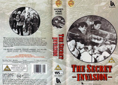 Video cover from The Secret Invasion (1964) (1)