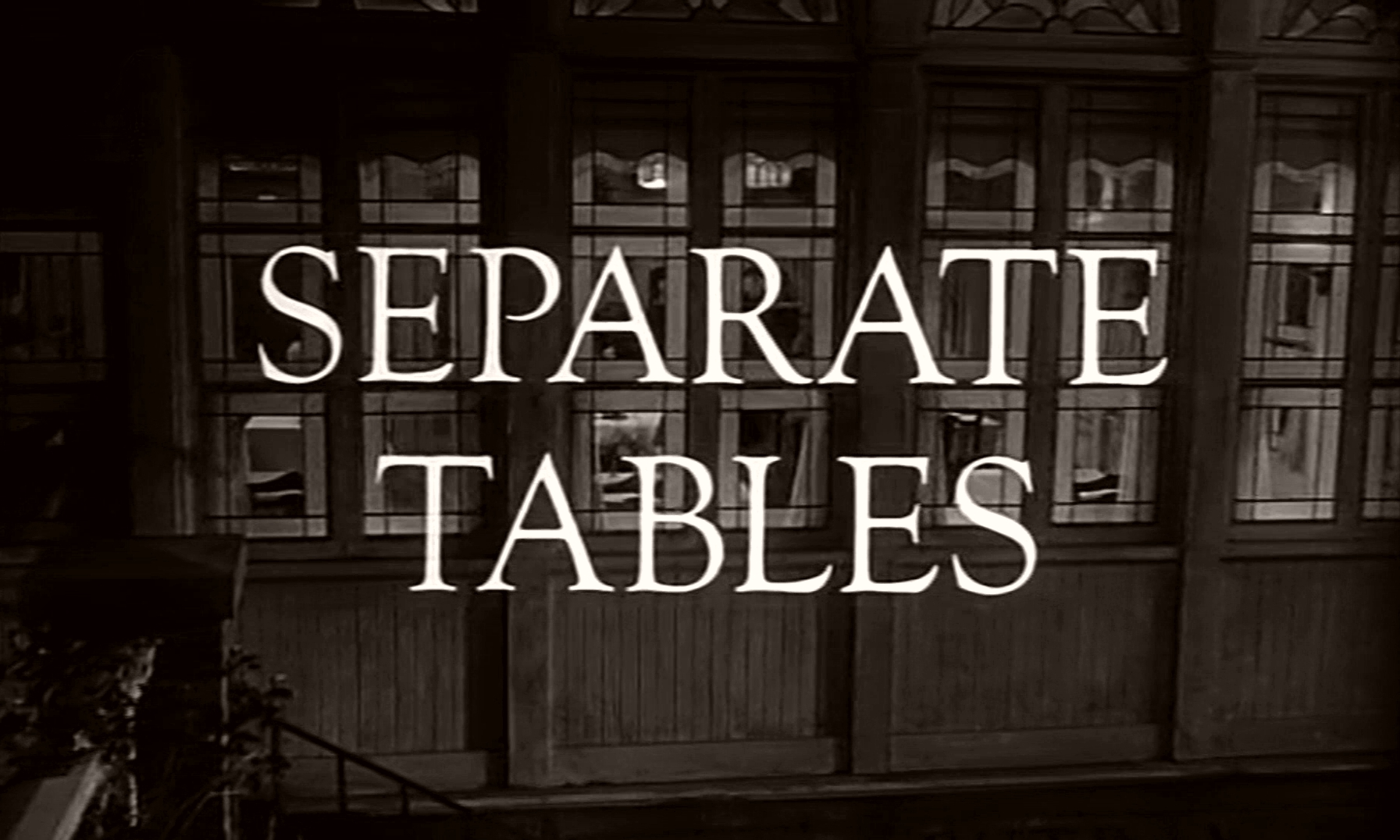 Main title from Separate Tables (1958) (9)