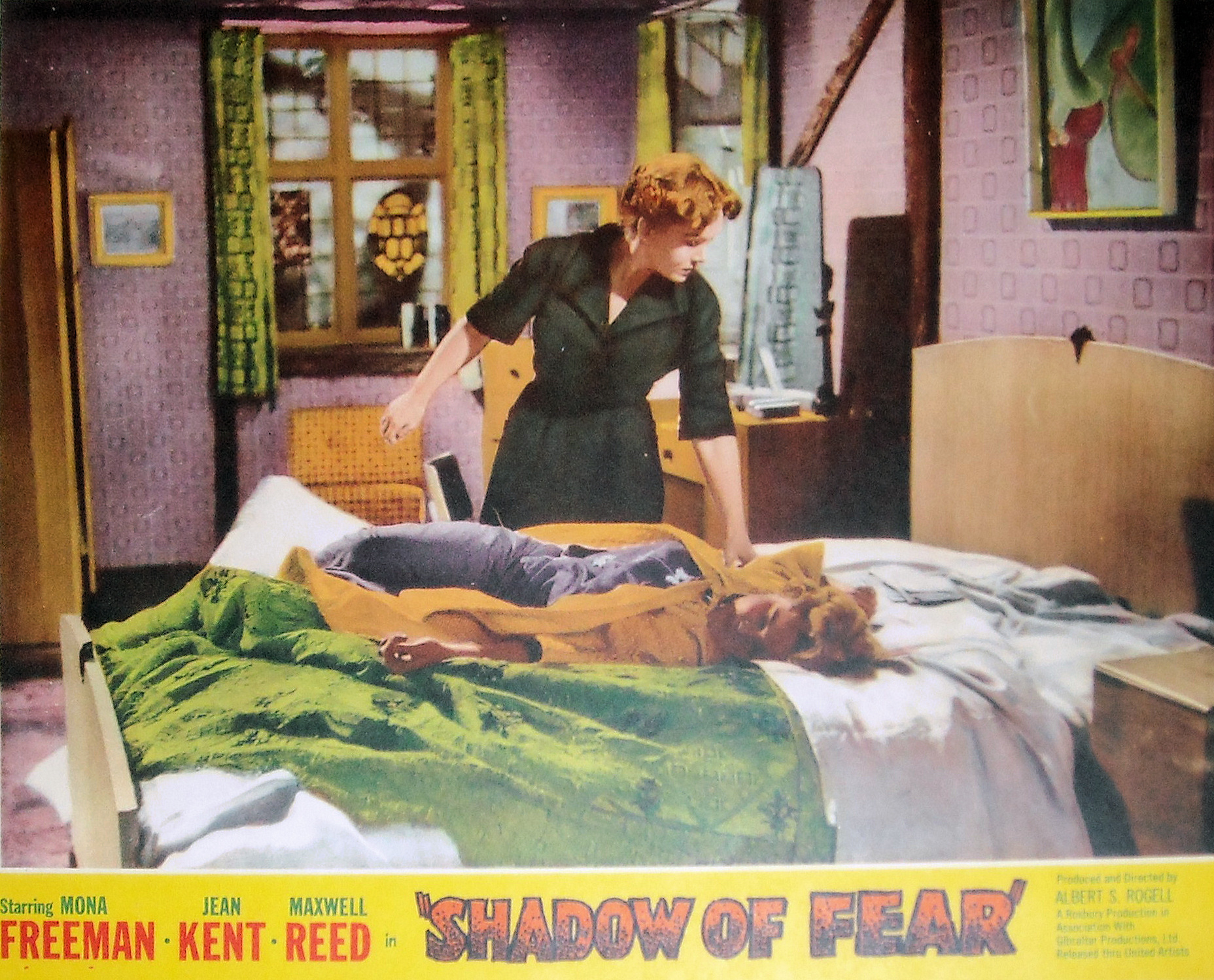 American lobby card from Shadow of Fear [Before I Wake] (1954) (1)