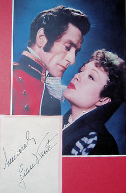Signed, colour photo of Jean Kent