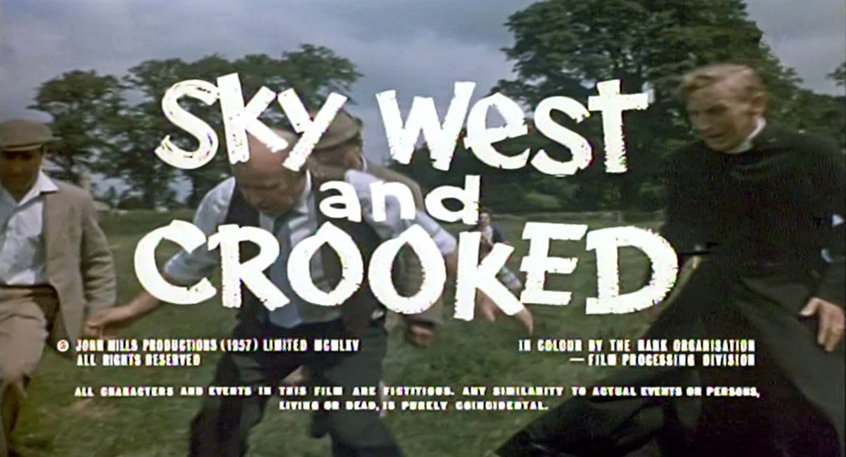 Opening credits from Sky West and Crooked (1966) (2)