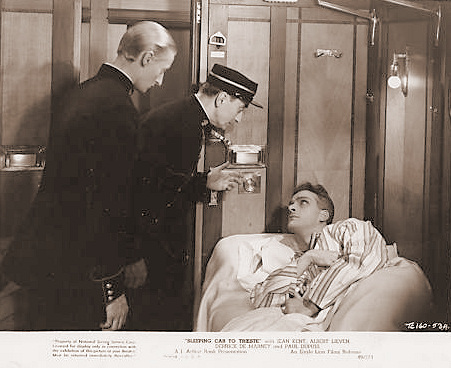 Paul Dupuis (as Detective Inspector Jolif) in a photograph from Sleeping Car to Trieste (1948) (3)