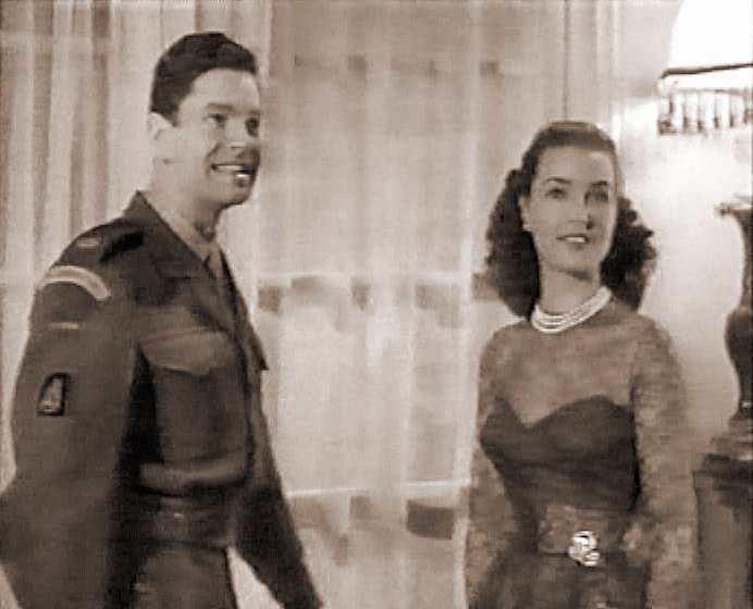 Captain Wilding (Anthony Steel) and wife Anne (Patricia Roc) face up to the reality of leaving the miltary for civvy street