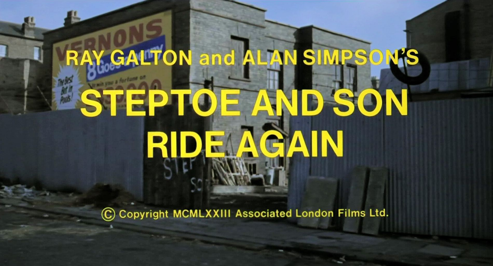 Opening credits from Steptoe and Son Ride Again (1973) (4)