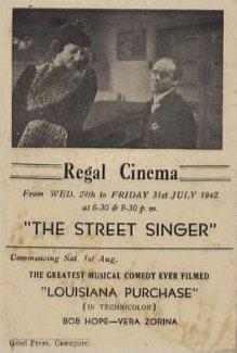 Poster for The Street Singer (1937) (4)