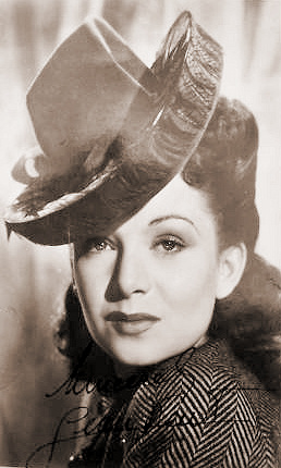 British actress Jean Kent in a striking hat