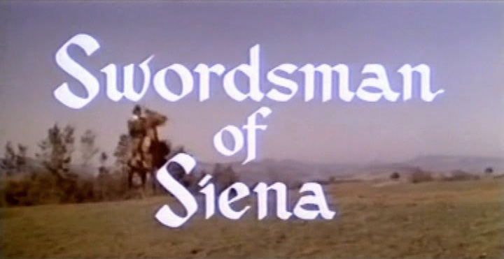 Main title from Swordsman of Siena (1962)