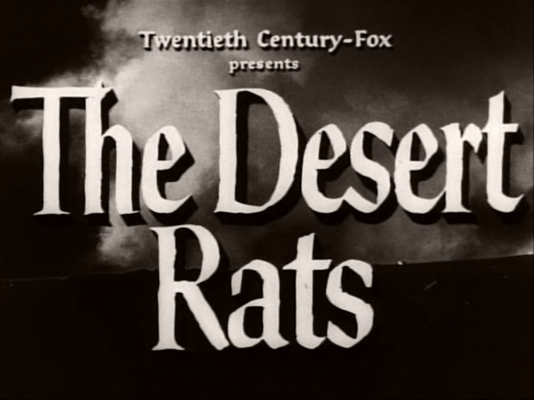 Main title from The Desert Rats (1953)