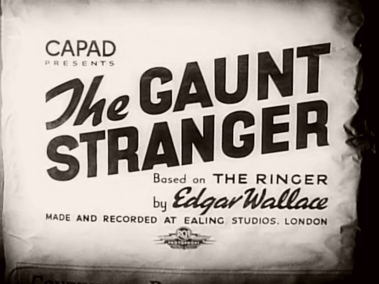 Main title from The Gaunt Stranger (1939)