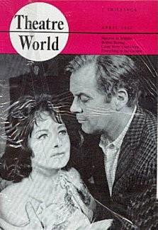 Theatre World magazine with Margaret Lockwood and  Derek Farr in Signpost to Murder.  April, 1962.
