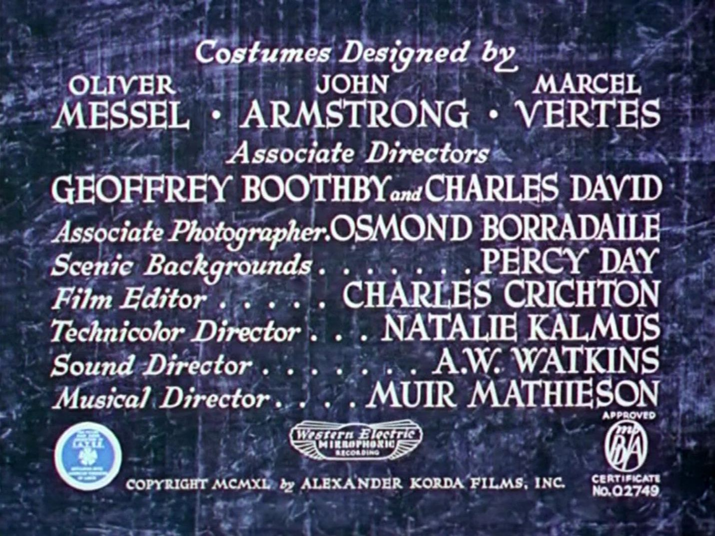 Main title from The Thief of Bagdad (1940) (10)