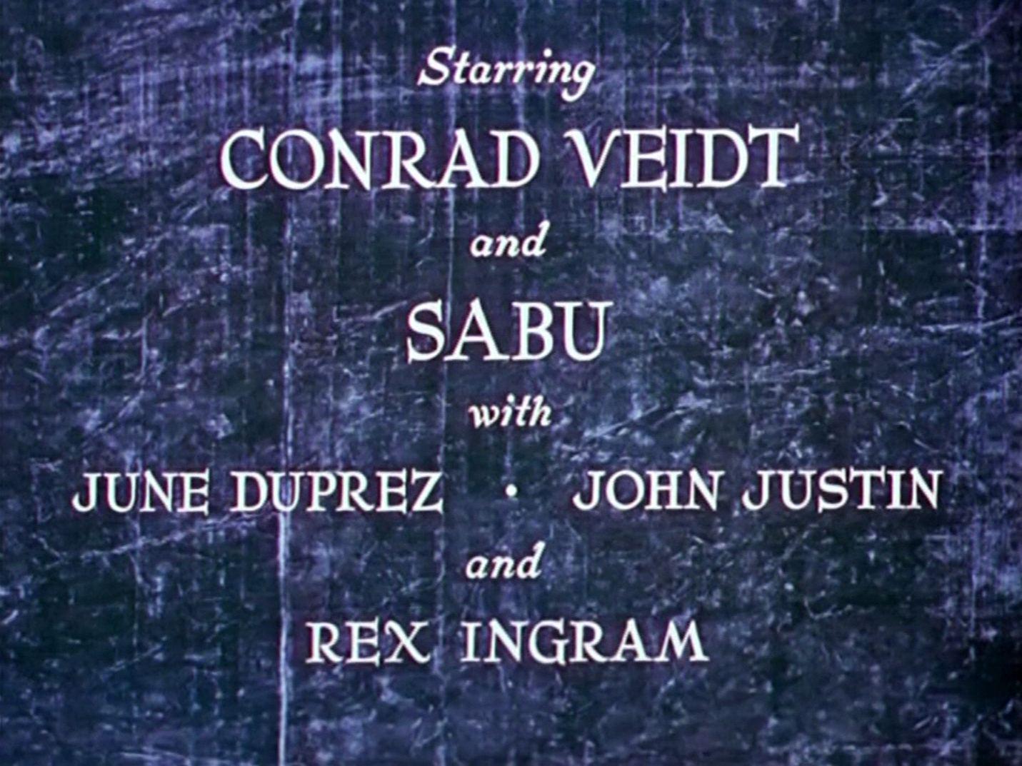 Main title from The Thief of Bagdad (1940) (3). Sabu, Conrad Veidt, June Duprez, John Justin, Rex Ingram