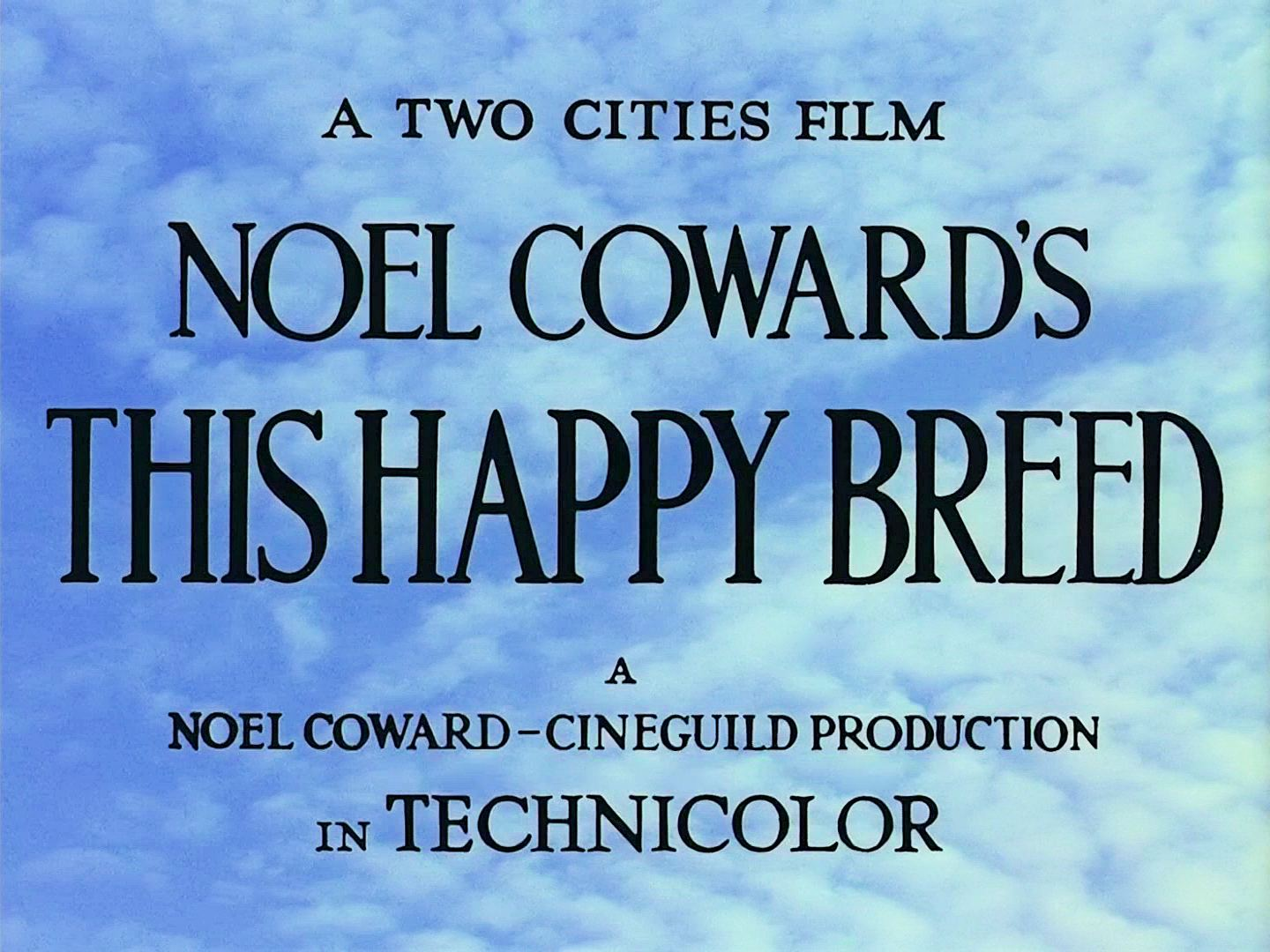 Main title from This Happy Breed (1944) (3)