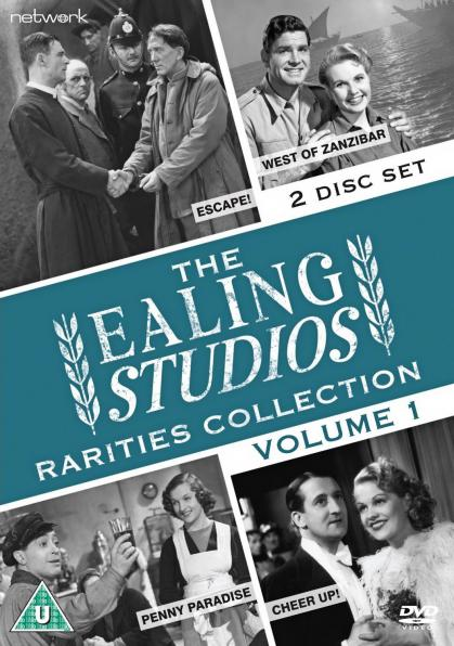 The Ealing Studios Rarities Collection DVD – Volume 1 from Network as part of the British Film collection. Features Escape!, West of Zanzibar, Penny Paradise, Cheer Up!