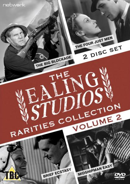 The Ealing Studios Rarities Collection DVD – Volume 2 from Network as part of the British Film collection. Features The Big Blockade, The Four Just Men, Brief Ecstasy, Midshipman Easy