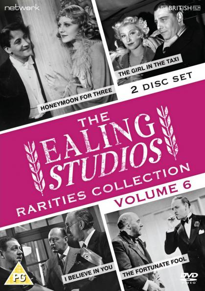 The Ealing Studios Rarities Collection DVD – Volume 6 from Network as part of the British Film collection.  Features Honeymoon for Three, The Girl in the Taxi, I Believe in You, The Fortunate Fool