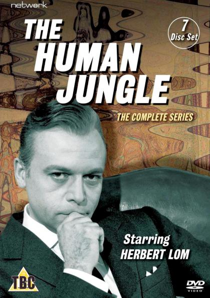 DVD cover from The Human Jungle with Herbert Lom
