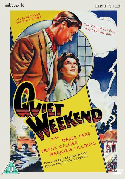 Quiet Weekend DVD from from Network and The British Film.  DVD cover features Derek Farr as Denys Royd and Barbara White as Miranda.