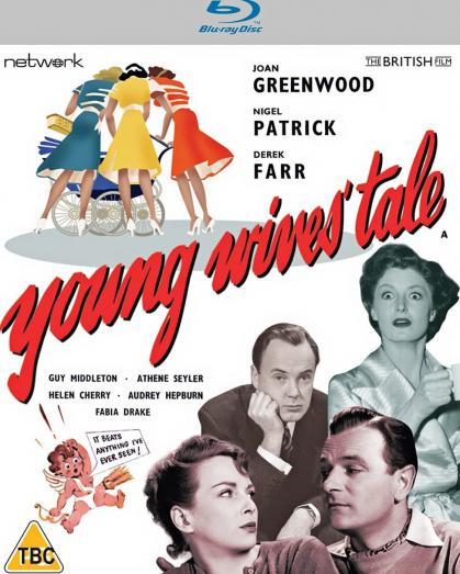 Young Wives' Tale (1951) Blu-ray cover from Network Distributing and the British Film [2021] (1). Joan Greenwood, Derek Farr, Nigel Patrick, Helen Cherry