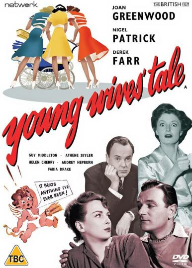 DVD cover of Young Wives' Tale (1951) from Network Distributing and the British Film [2021] (1). Derek Farr, Helen Cherry, Joan Greenwood, Nigel Patrick