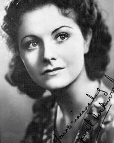 A 1930s autograph of the British actress Margaret Lockwood