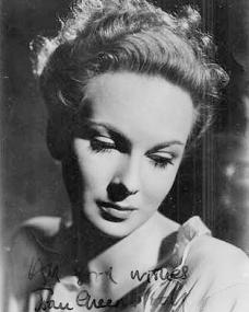 British actress Joan Greenwood sends all good wishes from 1946