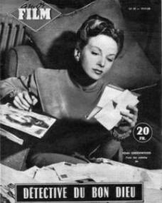 Amor Film magazine with Joan Greenwood in Father Brown.  Issue number 39.  (French).  Detective du bon dieu.