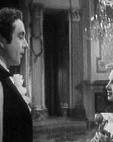Dennis Price (as Lord Byron) and Joan Greenwood (as Lady Caroline Lamb) in a screenshot from The Bad Lord Byron (1948) (1)