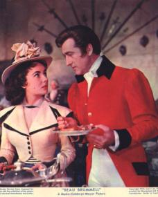 Elizabeth Taylor (as Lady Patricia Belham) and Stewart Granger (as George Bryan 'Beau' Brummell) in a photograph from Beau Brummell (1954) (3)