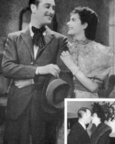 Margaret Lockwood was 'terrified' of Maurice Chevalier when they were teamed in 1936 for The Beloved Vagabond... a decade later (inset) they met again on equal terms of stardom.
