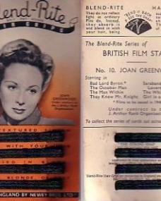 British Film Stars number 10 with Joan Greenwood